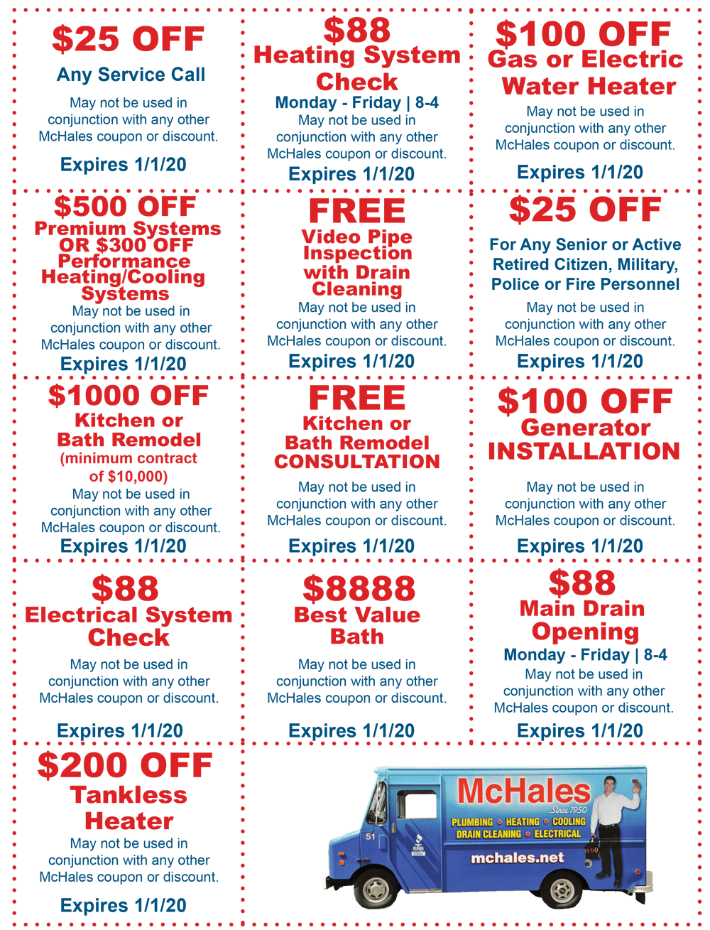 McHale's Plumbing, Heating and Cooling - Deals