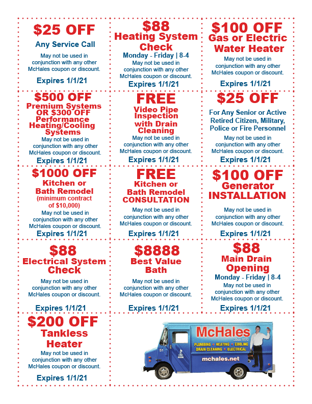 McHales Coupons